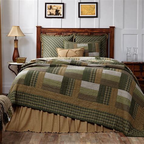 olive green comforter new country rustic log cabin quilt olive green tan brown
