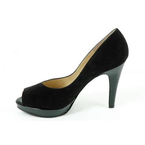 kaiser patu high heel evening shoes in black peep