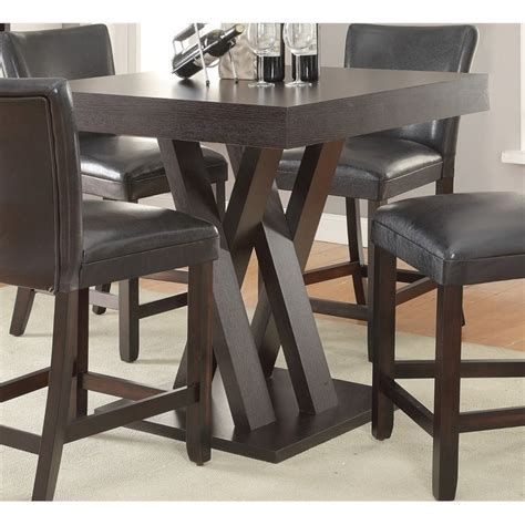 coaster counter height table and chairs coaster counter height dining table in cappuccino 100523