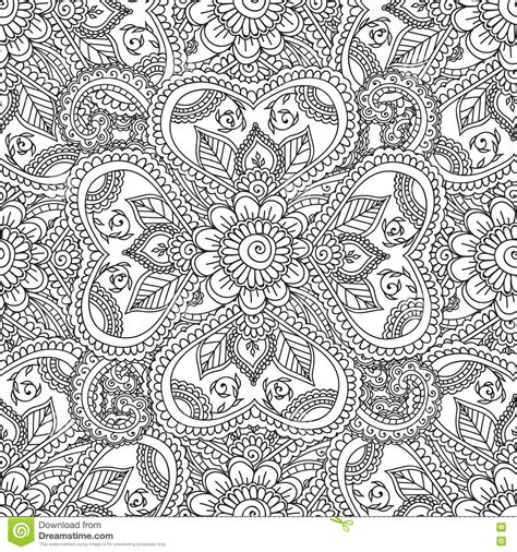 svg pattern color coloring pages for adults seamles henna mehndi doodles