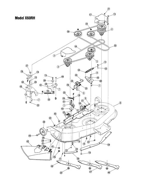 DECK-MODEL X60RH Diagram & Parts List for Model lx460 Toro