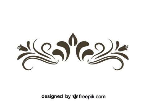 Floral Decorative retro floral decorative graphic element vector free