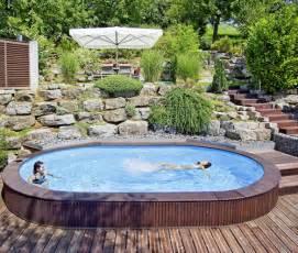 schwimmbad komplettangebot oval schwimmbecken komplett angebot lago sb einbau