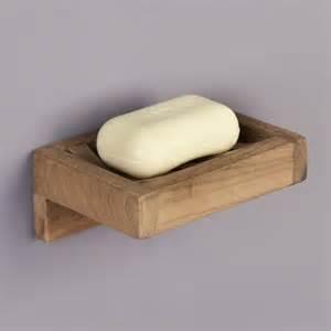 teak wall mount soap holder bathroom