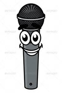 cartoon microphone by seamartini graphicriver