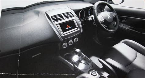 mitsubishi crossover interior mitsubishi asx crossover interior leaked photo autoevolution