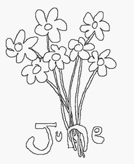 june color june calendar colouring pages