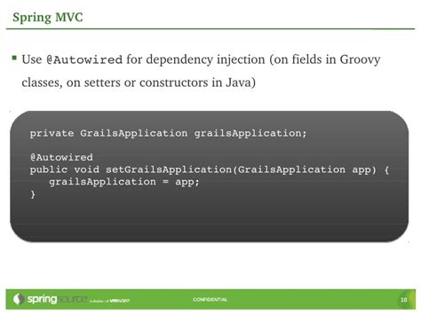 spring dependency injection private setter under the hood using spring in grails