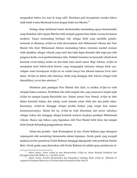 Wacana Teologi Ekonomi Muhammad Djakfar hermeneutika dalam pandangan intelektual indonesia
