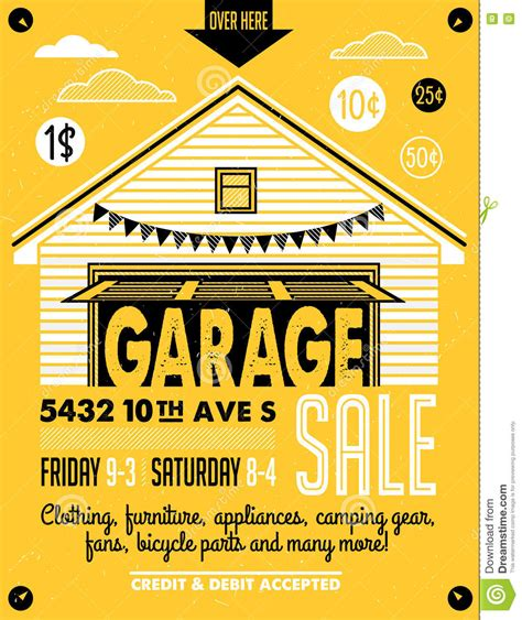 free printable garage sale temporary sign