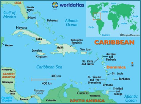 dominica on world map dominica map geography of dominica map of dominica worldatlas