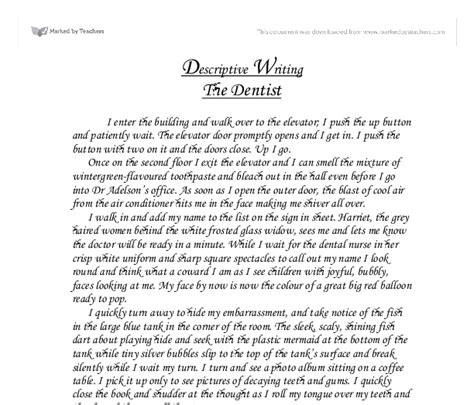 Descriptive Essay About A by Descriptive Essay Writing