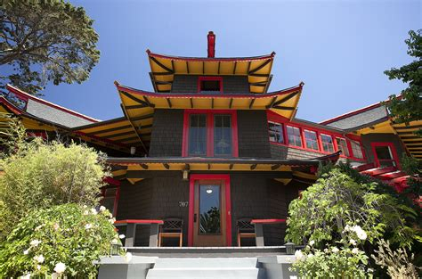 home design a japanese style house with pagoda roof in home of the day the pagoda house in santa barbara la times