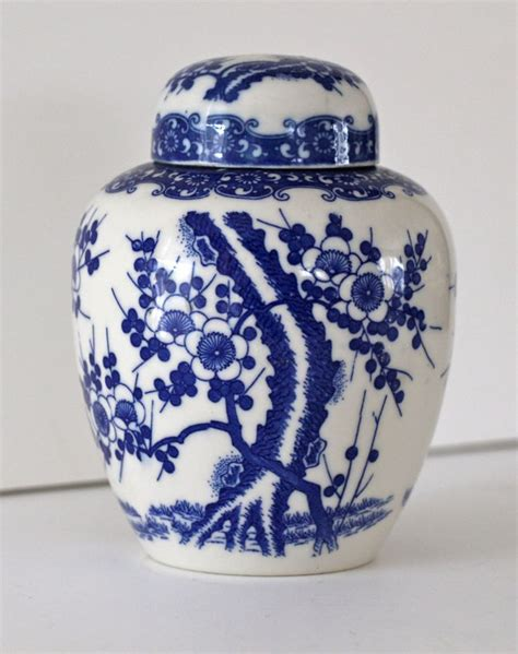 white ginger jar reserved for katie vintage blue and white ginger jar