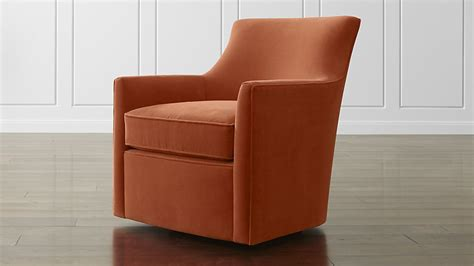 Crate And Barrel Swivel Chair by Clara Swivel Chair Dune Sunset Crate And Barrel