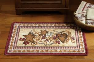 Discount Outdoor Rug Primitive Country Hearts And Stars Bathroom Accent Rug