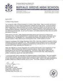 reference letter for a highschool student from a