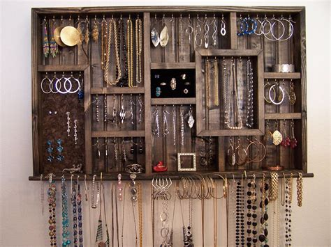T Best Promo Hanging Bag Organizer Mini Tempat Penyimpanan Gantung Per ring holder jewelry organizer wall hanging jewelry display