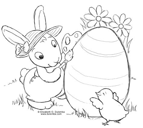 preschool coloring easter pages