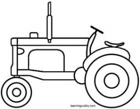 easy tractor coloring pages tractor clipart easy pencil and in color tractor clipart
