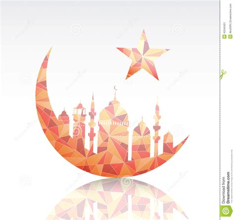 ramadan greeting card template stock vector image 42040401