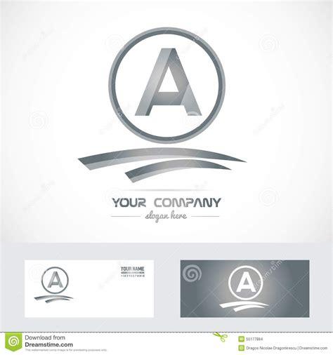 Maika Alogo Grey letter a silver grey logo icon stock vector image 55177884