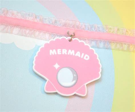 Chocker Mermaid Shell Pink mermaid shell choker by sugarjunkieshop on etsy image