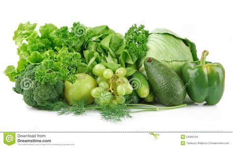 imagenes vegetales verdes sistema de verduras y de frutas verdes foto de archivo