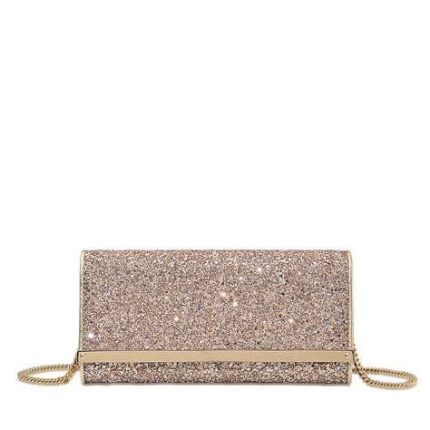 Jimmy Choo Metallic Clutch by Lyst Jimmy Choo Milla Clutch In Metallic
