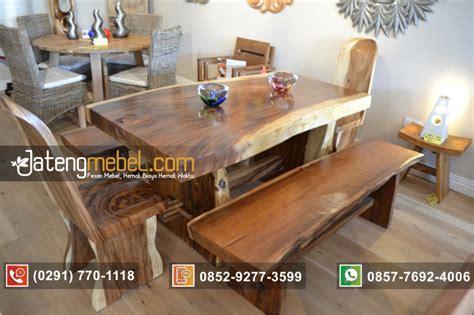 Meja Kayu Panjang Warung toko furniture jual meja makan kayu suar meh 2 kursi 2