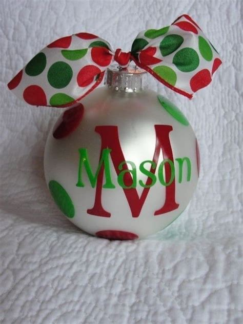 personalized christmas ornament red christmas ideas