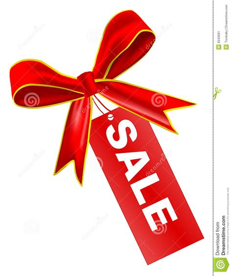vector sale tag with ribbon stock image image 8343091