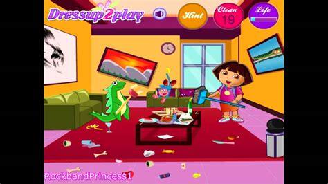 house cleaning games dora games to play dora house cleaning games for kids youtube