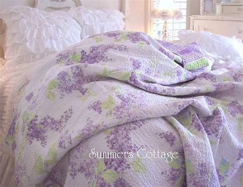 Lavendar Quilt by Lavender Lilac Quilt Shabby Chic Home