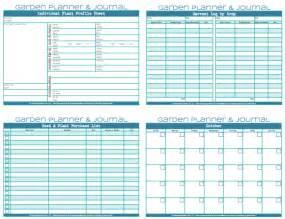 Garden Planner Template by Garden Planner Journal Northwest Edible