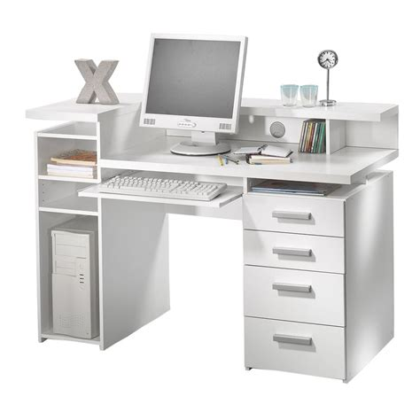 Computer Desk In White Claude Computer Desk In High Computer Desk In White