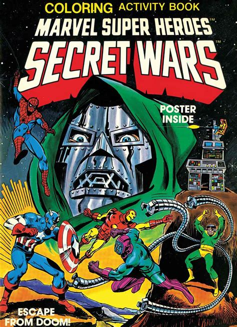 libro marvel super heroes secret inflation shocker marvel to reprint secret wars activity book from eighties for twenty five dollars