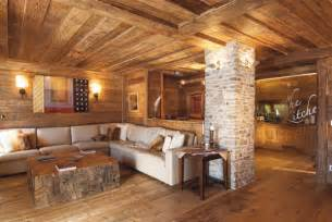 Wood Interior Homes Rustic Modern Living Room Decor And Design Ideas