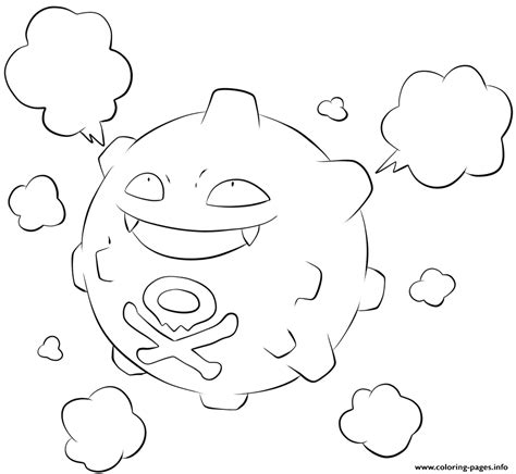 coloring pages info 109 koffing pokemon coloring pages printable