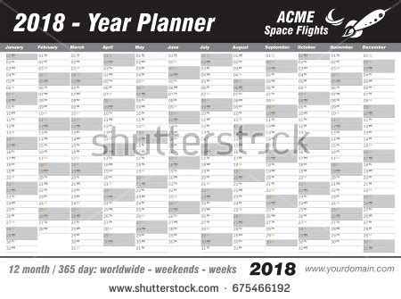 Galerry printable wall planner 2018 free
