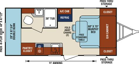 travel trailer floor plan bunkhouse rv floor plans
