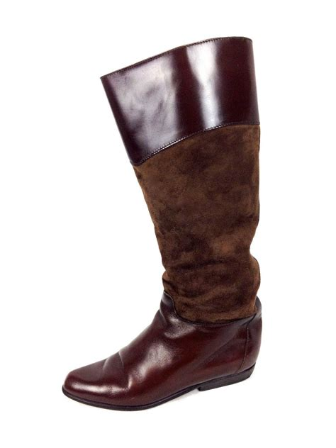 charles david shoes 7 5 womens brown leather boots for