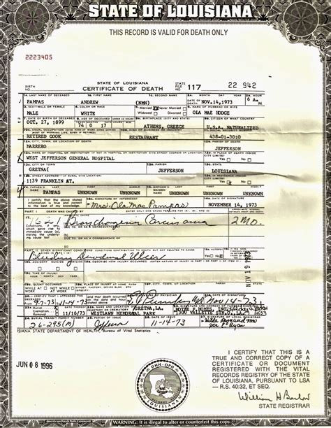 Louisiana Divorce Records S Family History Andrea Quot Andrew Quot Pas Sr 52