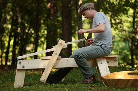 draw knife bench project gridless how to make a shaving horse