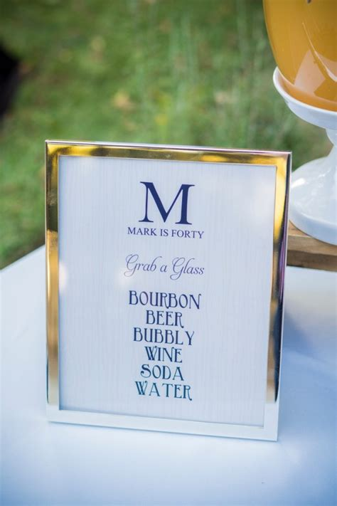 bourbon and bluegrass 40th birthday designs