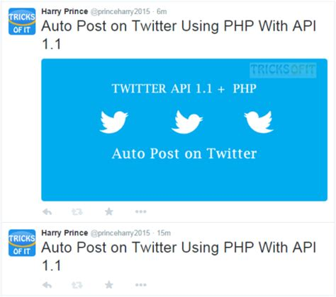 php tutorial twitter api auto post on twitter using php and api 1 1 tricks of it