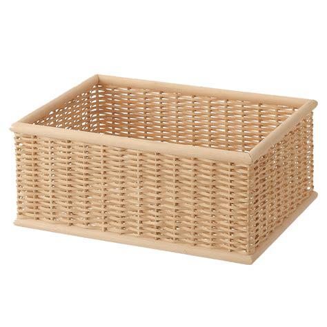 muji baskets stackable buri basket rectangular m w37 d26 h16cm muji