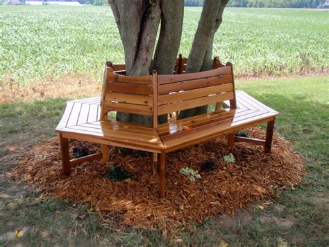 wood tree bench wrap around tree bench by thepps lumberjocks com