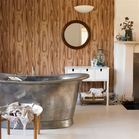 wood effect bathroom wallpaper bathroom wallpaper ideas