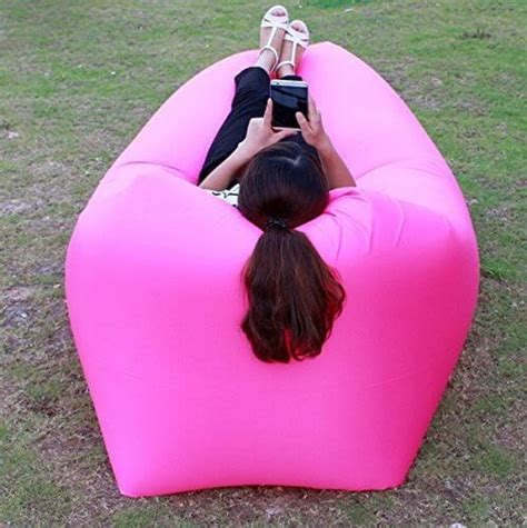 hicom mart portable inflatable lounger air chair blow